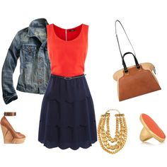 Orange Navy, created by lexis2584.polyvore.com