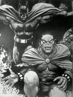 Batman and Etrigan the Demon by Eddy Newell