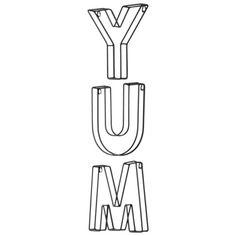 Yum Vertical Typography - Black