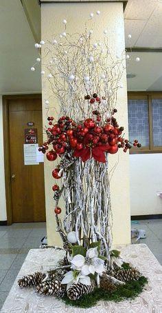 Déco noël christmas floral arrangements diy vase in