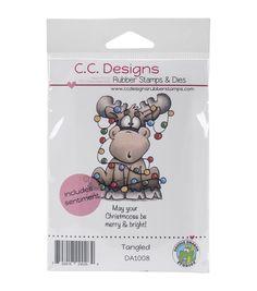 Doodle Dragon Studios Cling Stamp-Tangled