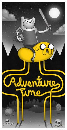 Two of my favourites; Mike Mitchell & Adventure Time! :)    sirmitchell:    Really excited to announce this.   My very first Mondo poster comes out on Friday and I couldn't be happier that it's Adventure Time! I hope you guys dig it.   (There's also a variant.)