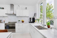 Kitchen with a window. The best view for the one who does the dishes