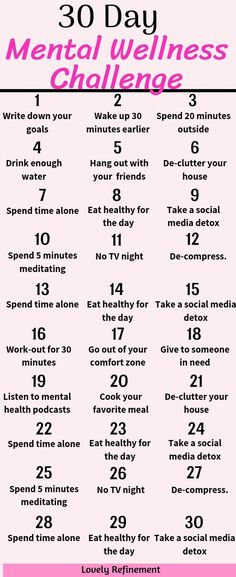30 Day Mental Wellness Challenge Are you ready to improve your mindset? Take this 30 day mental wellness challenge and see your life improve quickly. Mental wellness tips and tricks. The post 30 Day Mental Wellness Challenge appeared first on Gesundheit. Health Challenge, 30 Day Challenge, Detox Challenge, Productivity Challenge, Healthy Eating Challenge, Spring Challenge, Writing Challenge, 30 Tag, Vie Motivation