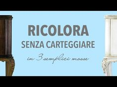 Ricolora senza carteggiare in 3 semplici mosse Shabby Vintage, Shabby Chic, Chalk Paint, Decoupage, Make It Yourself, Hobby, Diy, Painting, Aloe
