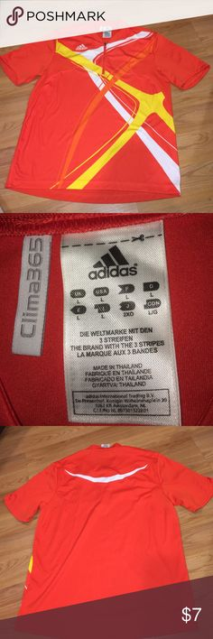 Like new Adidas Climatech 365 athletic shirt Fitting, great breathable athletic fabric Adidas Tops