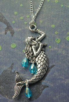 Hey, I found this really awesome Etsy listing at https://www.etsy.com/listing/239904344/mermaid-necklace-mermaid-charm-necklace