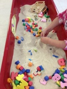 Finding letters in the sand!