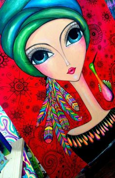 My Inner Goddess Kunstjournal Inspiration, Art Journal Inspiration, Painting Inspiration, Arte Pop, Pintura Graffiti, Eye Art, Art Journal Pages, Whimsical Art, Fabric Painting