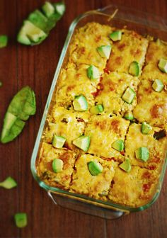 Healthy Mexican Cauliflower Casserole - filled with roasted peppers, cauliflower, and cheesy goodness (gluten free & vegetarian).
