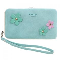 Sweet Hasp and Flower Design Women's Clutch Wallet #men, #hats, #watches, #belts, #fashion, #style