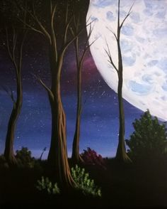 Into The Dark - Paint Nite Painting