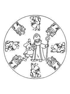 * Mandala: Sinterklaas en Piet!