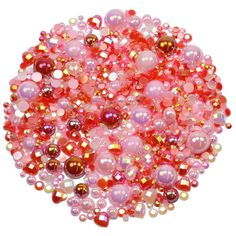 This embellishment pack contains a luscious mixture of rhinestones and pearls in lovely tones of Red and Pink The sparkly gems range in size from Valentine Theme, Valentines, Nail Decorations, Ornament Wreath, Red And Pink, Embellishments, Card Making, Packing, Valentine's Day