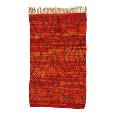 For Sale on - 74822 Vintage Berber Moroccan Rug with Post-Modern Design and Vibrant Colors. This hand-knotted wool vintage Berber Moroccan rug features a post-modern Trellis Rug, Trellis Design, Modern Moroccan, Moroccan Rugs, Moroccan Style, African Rugs, Vintage Globe, Berber Carpet, Rugs On Carpet