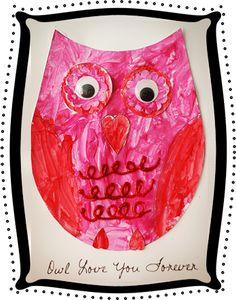 valentine owl craft free preschool crafts - 350×445