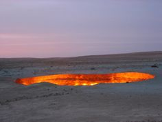 The Door to Hell (in the daytime), Darvaza Turkmenistan,