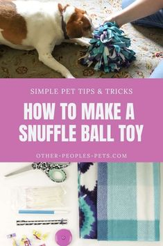 Diy Puppy Toys, Diy Toys For Dogs, Fleece Dog Coat, Diy Dog Toys Fleece, Dog Treat Toys, Pet Sitting Business, Dog Enrichment, Dog Crafts, Toy Puppies