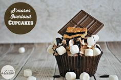 S'mores Overload Cupcakes