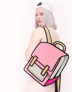 41bb6991b757 Pink School Style - 2D Bag