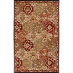 Art of Knot Magnolia Wool Area Rug, Brown