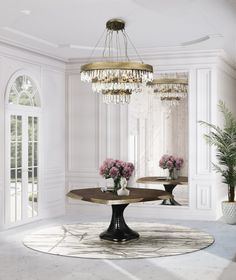 The Modern Chandeliers blog has made a selection of a series of unique Modern Chandeliers for the foyer that will certainly help you boost your home decor. #modernchandelier #crystalchandelier #midcenturychandelier #interiordesign #2020trends Dining Table, Contemporary Home Furniture, Lighting Design, Decor, Interior Design Trends, Modern Classic Interior, Summer Home Decor, Contemporary Design, Home Decor