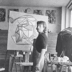 LEE KRASNER. (Brooklyn, 1908 - Nueva York, 1984). Mujer de Jackson Pollock. Expresionismo abstracto americano.