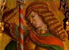 Carlo e Vittore Crivelli - San Michele arcangelo, dettaglio Polittico di Monte San Martino - 1477-1480 ca. -  Chiesa di San Martino vescovo, Monte San Martino, in provincia di Macerata