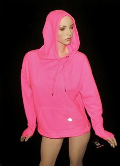 Victoria's Secret VSX Pullover Hoodie pink Media_ready pocket for cords Fleece M #VictoriasSecret #TracksuitsSweats