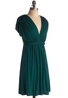 Closet Braid Dress in Deep Jade | Mod Retro Vintage Printed Dresses | ModCloth.com