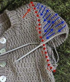 Ich hatte sie im vorletzten Post schon gezeigt: Meine nicht mehr ganz neue, aber aktuell liebste Ganzjahres-Strickjacke.         Die Tulpenb...