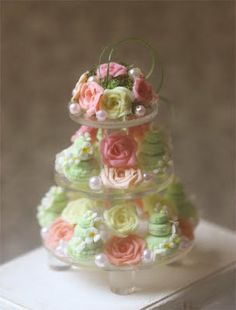 Gorgeous miniature sweets in pink and mint