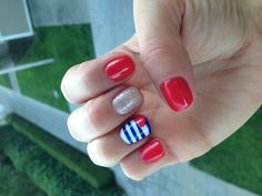 My Fourth of July gel manicure!