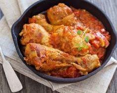 Cuisse de poulet aux tomates à la bière
