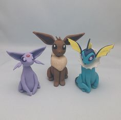 Eeveelutions Pokemon Figurine Eevee Polymer Clay by PunkInPink