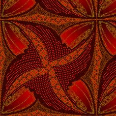spindots afrikans burnt butterfly fabric by glimmericks on Spoonflower - custom fabric