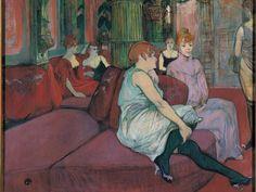 Au salon de la rue des moulins, H. de Toulouse-Lautrec, 1894, huile sur toile © François Pons, Musée Toulouse-Lautrec, Albi, Tarn, France