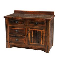 Fireside Lodge Reclaimed Barnwood Bathroom Vanity Base Leg Style: Hickory Legs, Orientation: Left, Top: With Laminate Top 72 Bathroom Vanity, Bathroom Vanities Without Tops, Bathroom Red, Bathroom Colors, Bathroom Ideas, 30 Vanity, Bath Ideas, Pallet Bathroom, Vanity Cabinet