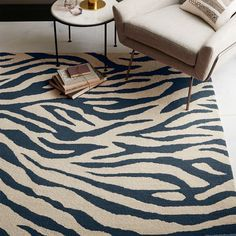 Zebra Stripe Special Order Wool Rug (30-Day Delivery)