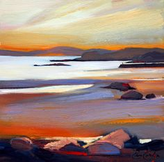 Pam Carter, Carsaig Bay  oil painting 20″x20″