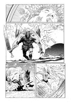 rumble #9 inks by JHarren