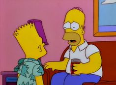 "Bart Simpson's in the episode entitled ""Homer's Phobia."""