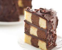 Receta: Osvaldo Gros - Budín damero- Azúcar Chango Tiger Cake, Osvaldo Gross, Cheesecake, Sweet Cakes, Nigella Lawson, Cakes And More, Cake Designs, Vanilla Cake, Rachel Ray