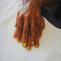 #manicure #shellac #CNDshellac #bicyleyellow
