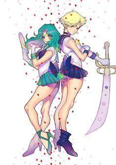 #SailorNeptune & #SailorUranus