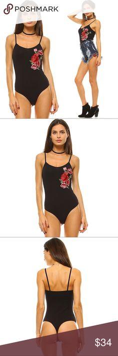 Rose Patch Boho Chic Bodysuit ❤️ BUNDLES ❤️ DISCOUNTS ❌ NO TRADES ❌ NO Low balling!  • Sizes: - SMALL - MEDIUM - LARGE  * MATERIAL: - 5% Sapndex - 95% Cotton Tops