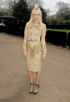 Kate Bosworth in Burberry Prorsum Autumn/Winter 2011