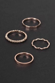 Textured Beaded #Ring Set for women. Price: $13.96