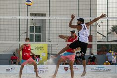 "After the first day of the Doha 4-star main draw, several top teams are facing an early goodbye in today's second pool matches. US veterans Phil Dalhausser and Nick Lucena will need to go up against Austria's Huber/ Dressler in a ""win-or-go-home"" match. Us Veterans, Beach Volleyball, Doha, Austria, Stars, Face, Sterne, The Face, Faces"