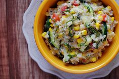 Farmer's Market Skillet puts fresh farmer's market finds to good use in a creamy, wholesome skillet.